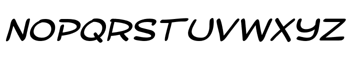 SF Toontime Extended Italic Font UPPERCASE