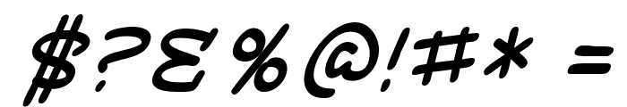 SF Toontime Italic Font OTHER CHARS