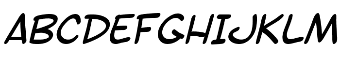 SF Toontime Italic Font UPPERCASE
