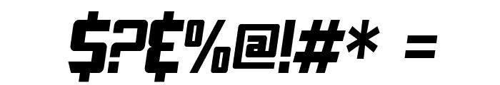 SF TransRobotics Condensed Oblique Font OTHER CHARS