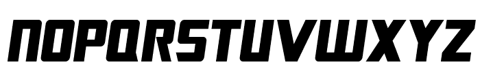 SF TransRobotics Condensed Oblique Font UPPERCASE