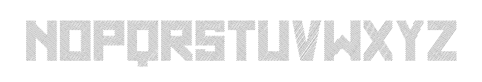 SF WADIM GIANT LINES Font LOWERCASE