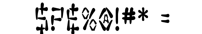 SF Wasabi Condensed Bold Font OTHER CHARS