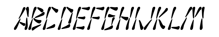 SF Wasabi Condensed Italic Font LOWERCASE
