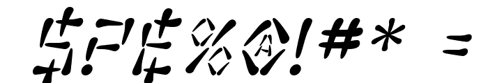 SF Wasabi Italic Font OTHER CHARS