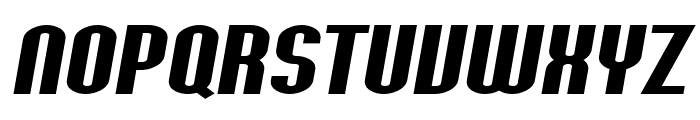 SF Willamette Extended Bold Italic Font UPPERCASE
