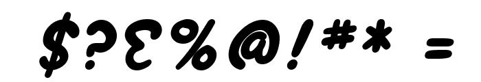 SF Wonder Comic Bold Italic Font OTHER CHARS
