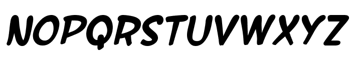 SF Wonder Comic Bold Italic Font LOWERCASE
