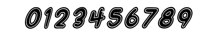 SF Wonder Comic Inline Italic Font OTHER CHARS