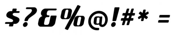 SF Quartzite Pro Black Italic Font OTHER CHARS