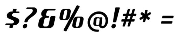 SF Quartzite Pro Bold Italic Font OTHER CHARS