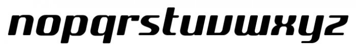 SF Quartzite Pro Bold Italic Font LOWERCASE