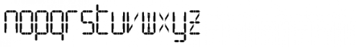 SF Digital Readout Pro Font LOWERCASE