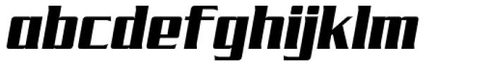 SF Tekamah Black Italic Font LOWERCASE