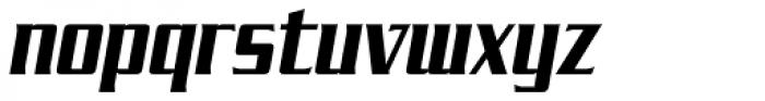SF Tekamah Bold Italic Font LOWERCASE