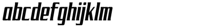 SF Tekamah Cond Italic Font LOWERCASE