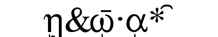 Sgreek Medium Font OTHER CHARS