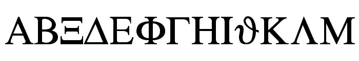 Sgreek Medium Font UPPERCASE