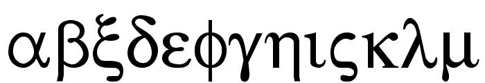 Sgreek Medium Font LOWERCASE