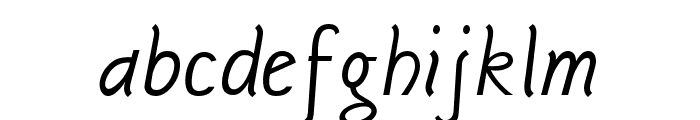 Sgriffo-Italic Font LOWERCASE