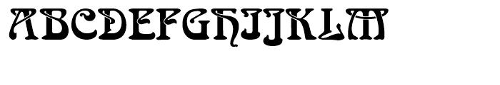 SG Arnold Boecklin SH Regular Font UPPERCASE