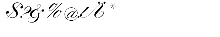 SG Artscript No 1 SH Bold Font OTHER CHARS