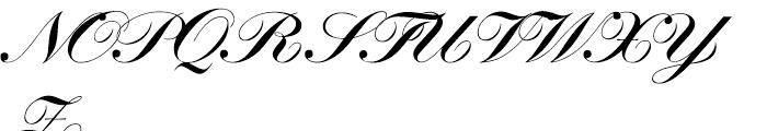 SG Artscript No 1 SH Bold Font UPPERCASE