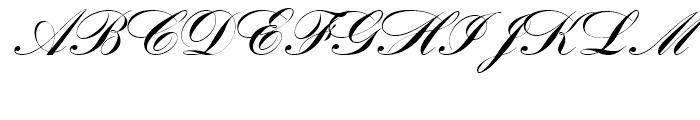 SG Bank Script SB Regular Font UPPERCASE