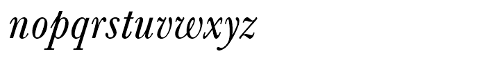 SG Baskerville No 1 SB Italic Font LOWERCASE