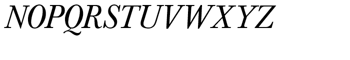 SG Baskerville No 1 SH Italic Font UPPERCASE