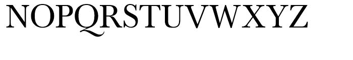 SG Baskerville No 1 SH Regular Font UPPERCASE