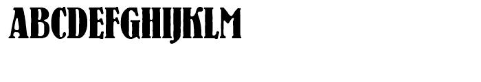 SG Bernhard Antique SH Bold Condensed Font UPPERCASE