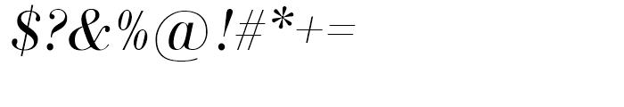 SG Bodoni No 1 SB Light Italic Font OTHER CHARS