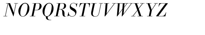 SG Bodoni No 1 SB Light Italic Font UPPERCASE