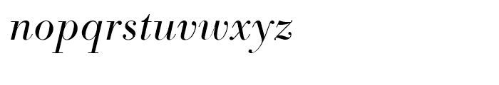 SG Bodoni No 1 SB Light Italic Font LOWERCASE
