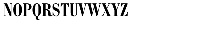 SG Bodoni No 1 SB Medium Condensed Font UPPERCASE