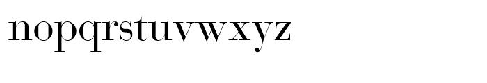 SG Bodoni SH Roman Font LOWERCASE