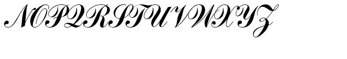 SG Commercial Script SB Regular Font UPPERCASE