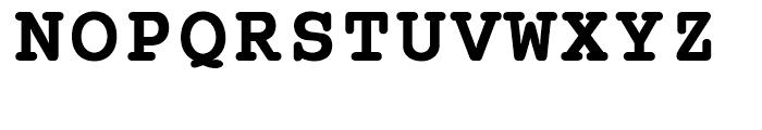 SG Courier SB Bold Font UPPERCASE