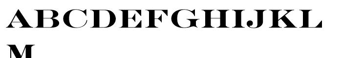 SG Engravers SB Medium Font LOWERCASE