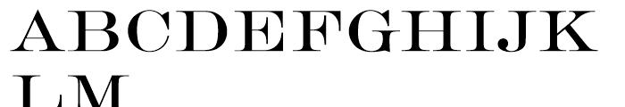 SG Engravers SB Regular Font UPPERCASE