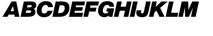 SG Europa Grotesk No 1 SH Bold Italic Font UPPERCASE