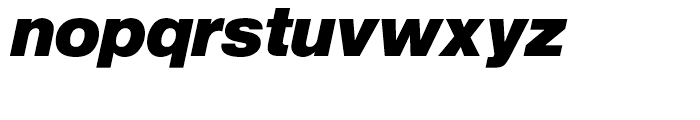 SG Europa Grotesk No 1 SH Bold Italic Font LOWERCASE