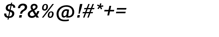 SG Europa Grotesk No 2 SB Medium Italic Font OTHER CHARS