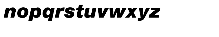 SG Europa Grotesk No 2 SB Ultra Italic Font LOWERCASE