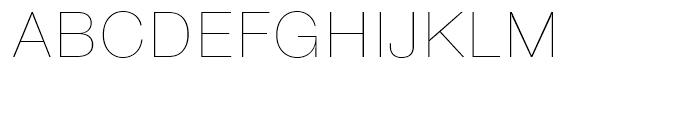 SG Europa Grotesk No 2 SB Ultra Light Font UPPERCASE
