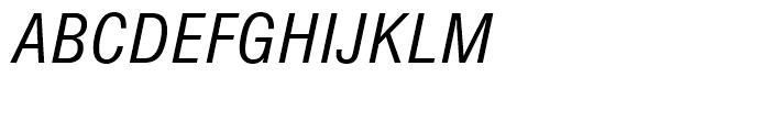 SG Europa Grotesk SB Book Condensed Italic Font UPPERCASE