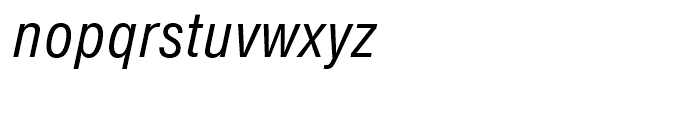 SG Europa Grotesk SB Book Condensed Italic Font LOWERCASE