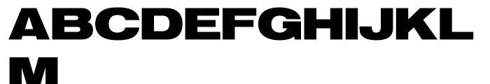 SG Europa Grotesk SH Bold Extended Font