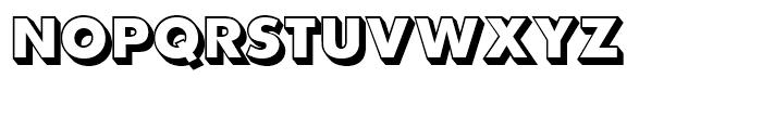 SG Futura SB Shaded Extra Bold Font UPPERCASE